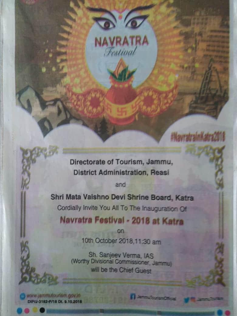 Navratra festival in Katra